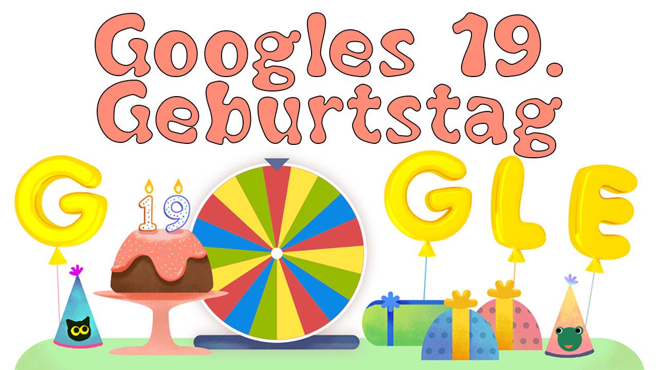 Google Geburtstagsüberraschung 2017