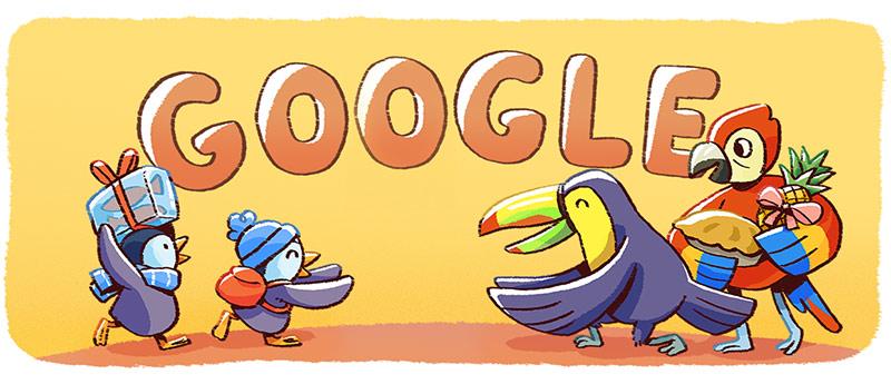 Weihnachtsfeiertage - Google Doodle