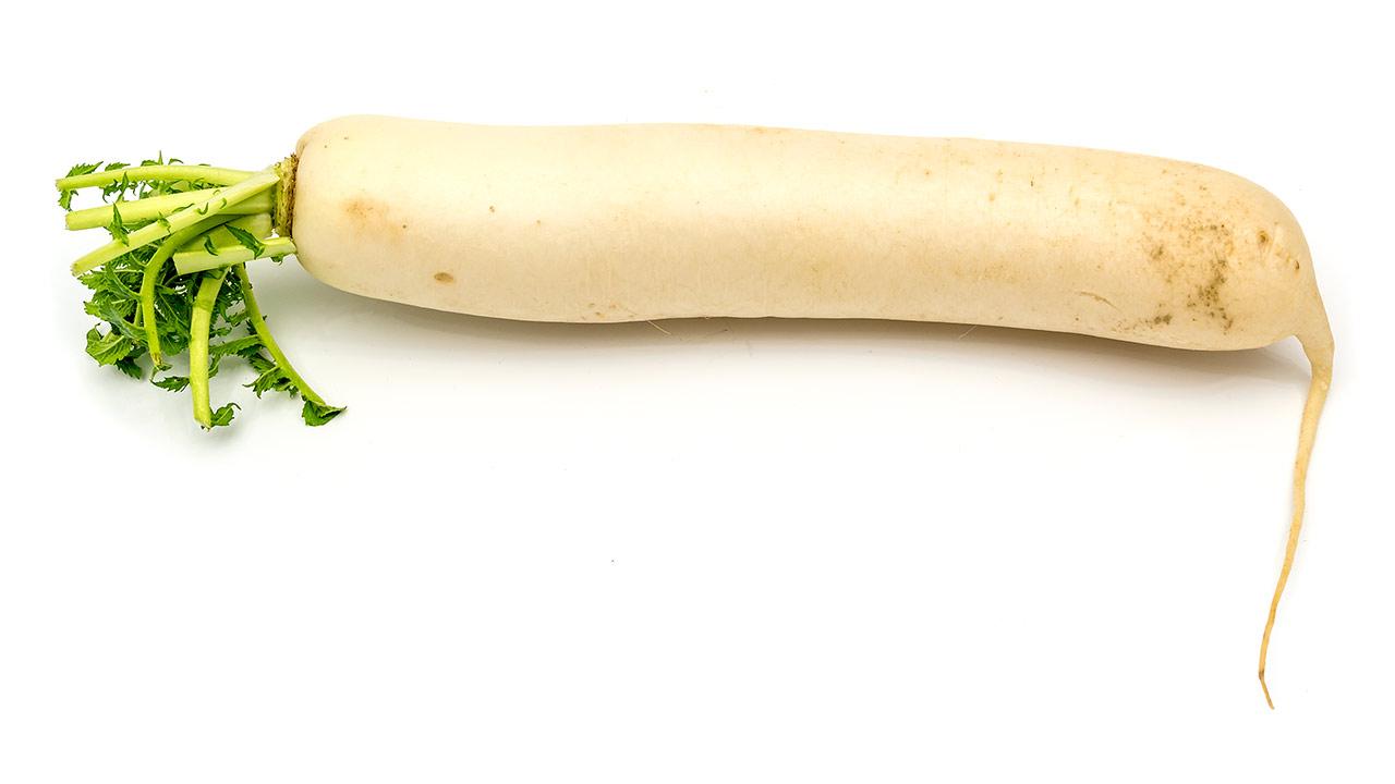 Rettich (weiß, lang)