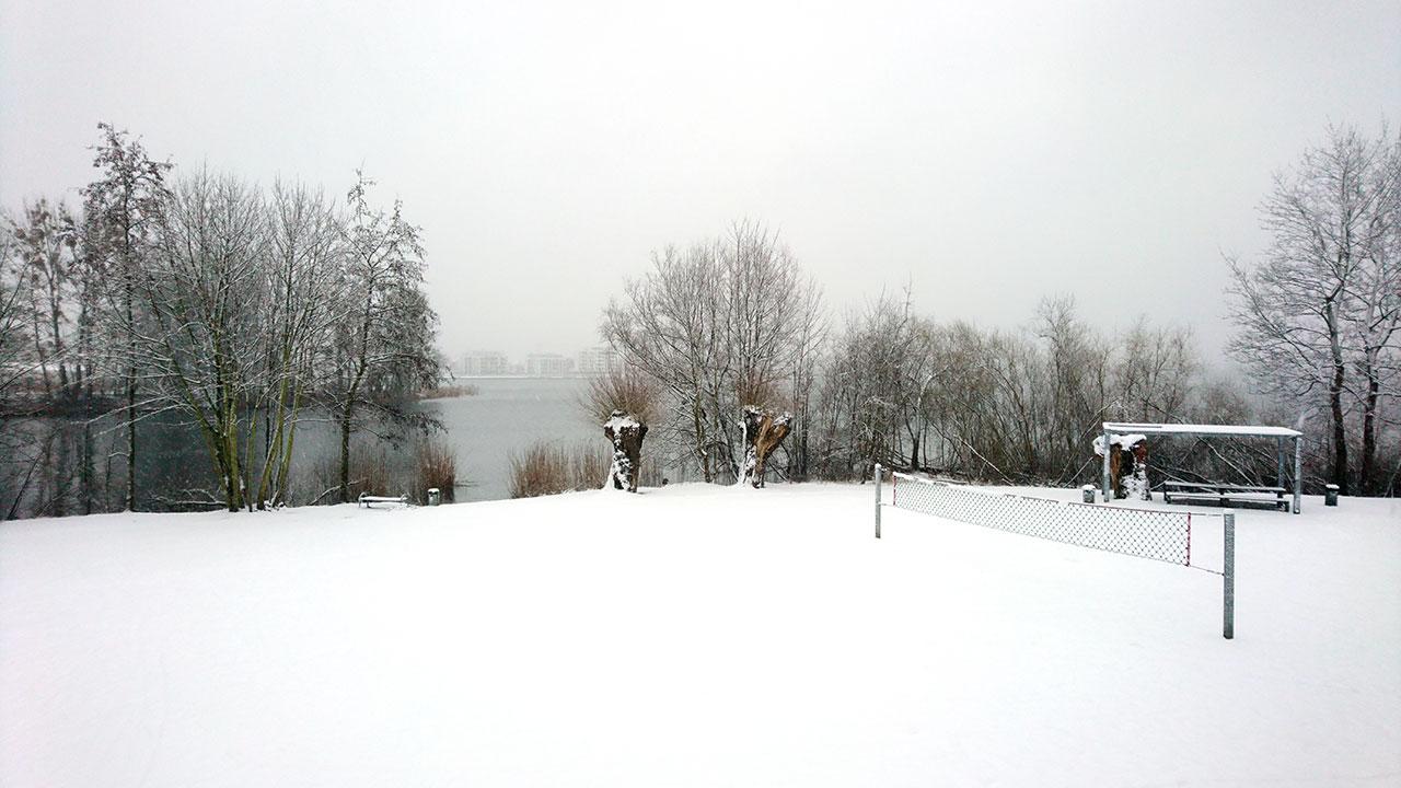 Ostern 2018 – Schnee in Schwerin (Ziegelsee Grillplatz)