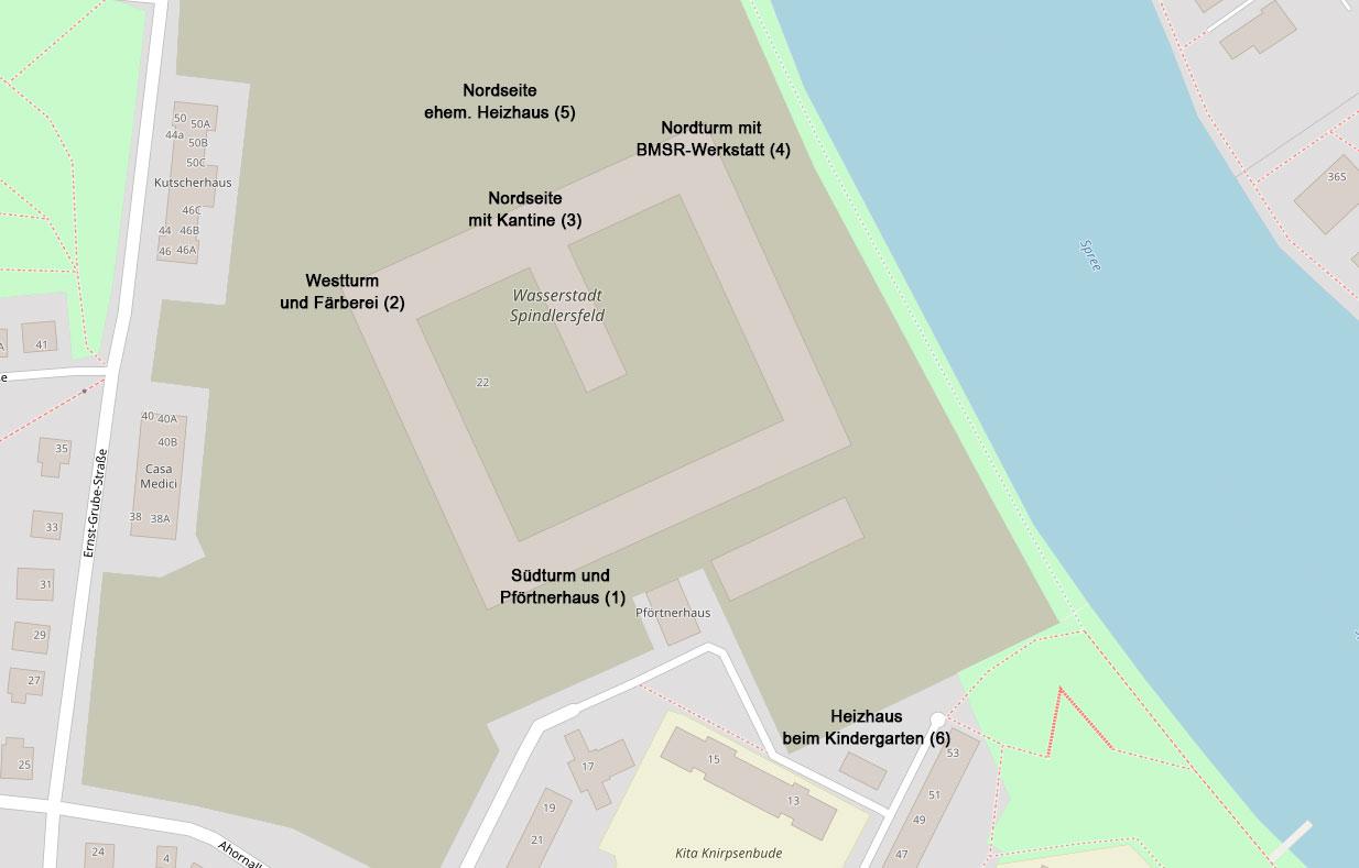 Karte Rewatex-Spindlersfeld