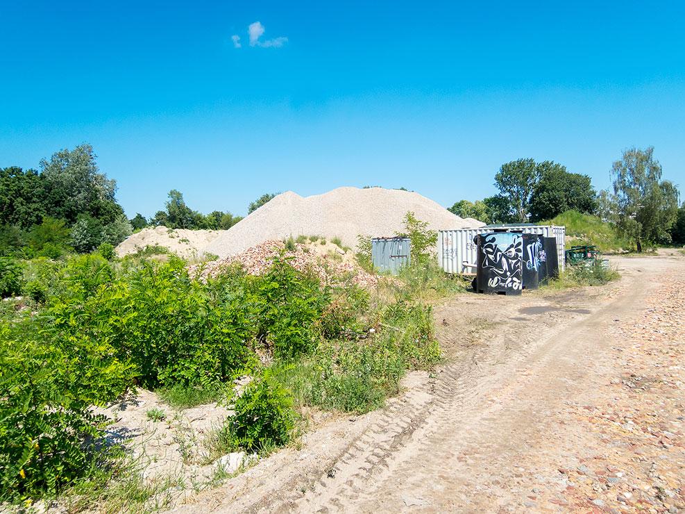 Spindlersfeld Rewatex – Nordseite ehemaliges Heizhaus