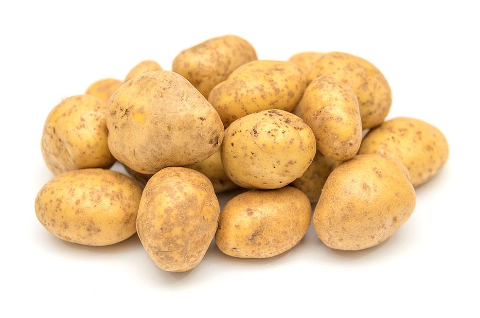 Ein kleiner Haufen Kartoffeln