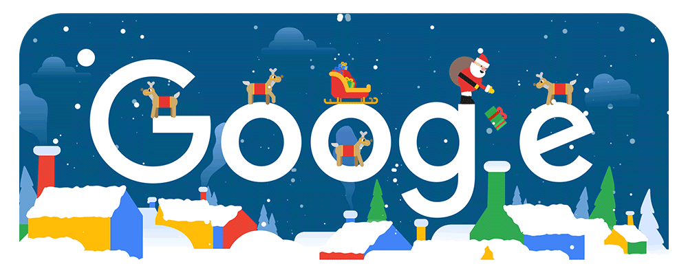 Frohe Weihnachten 2018 (Google-Doodle Tag 2)