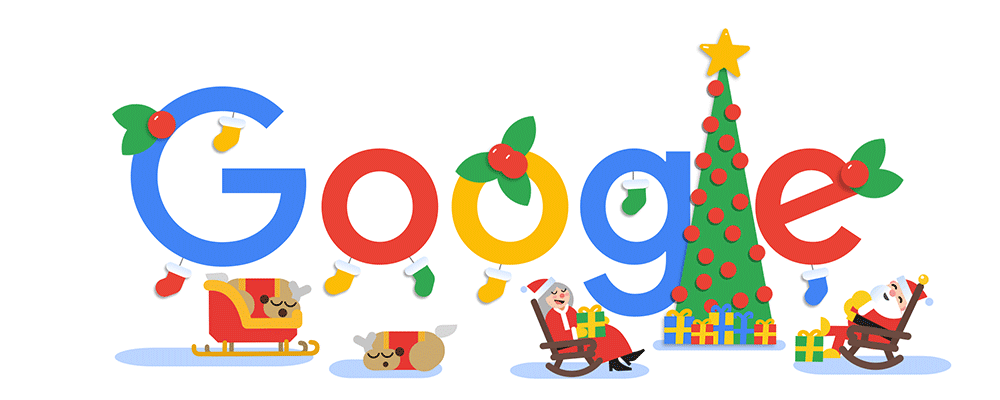 Frohe Weihnachten 2018 (Google-Doodle Tag 3)