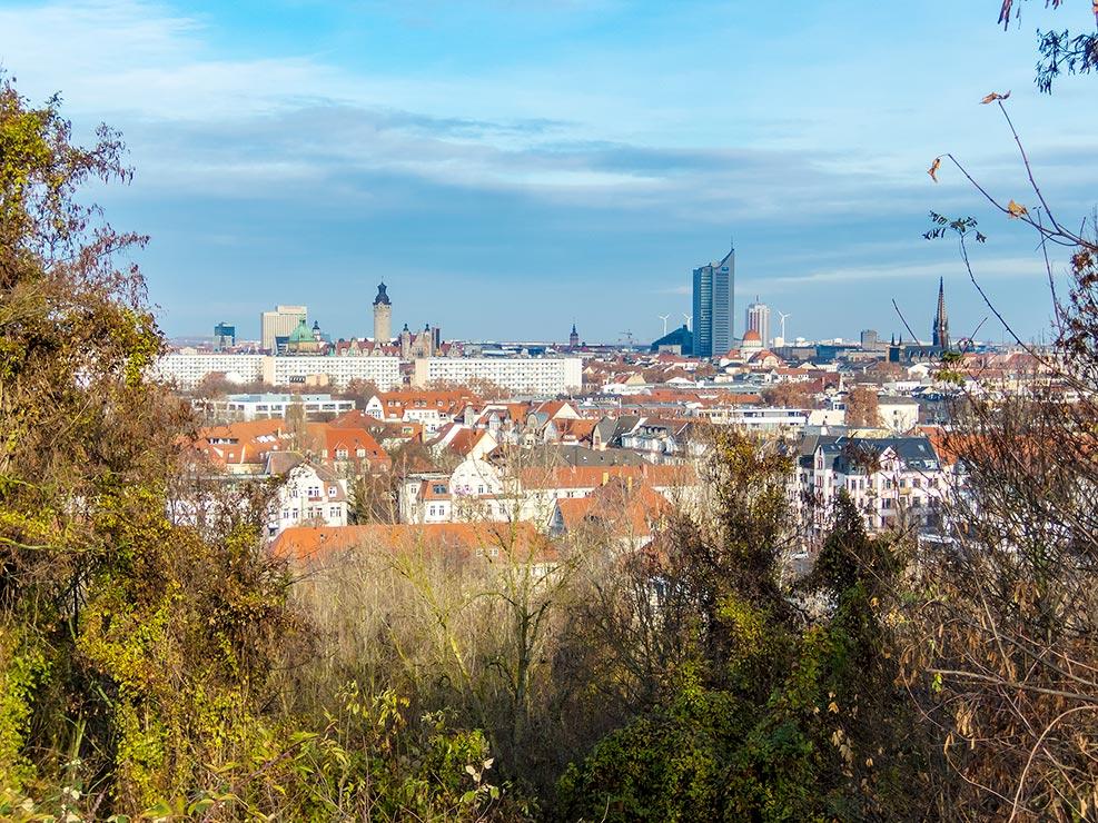 Leipzig – Blick vom Fockeberg auf die Stadt