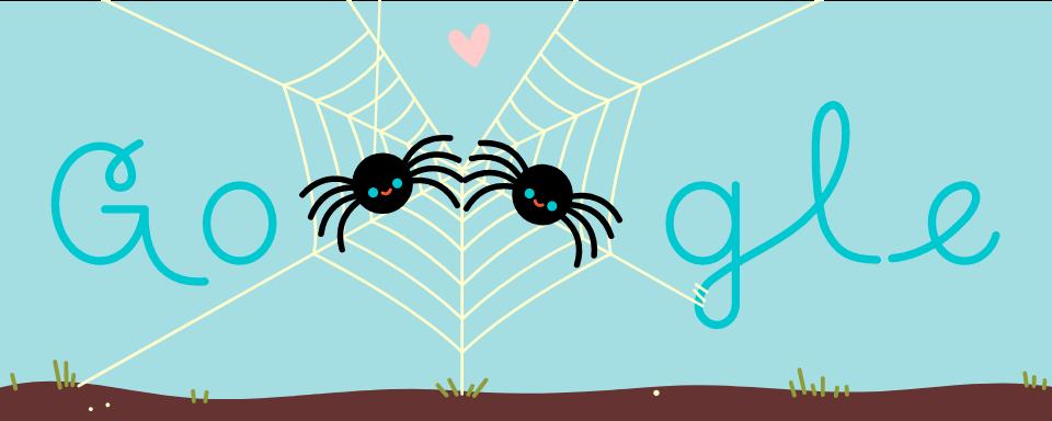 Valentinstag 2019 – Spinnen (Google Doodle)