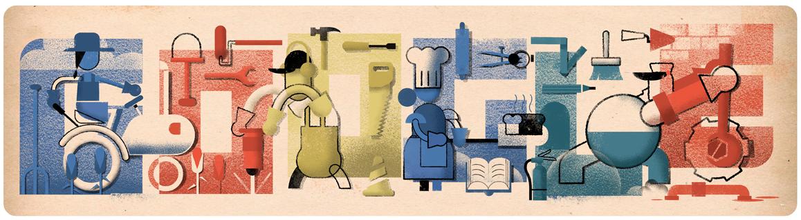 Tag der Arbeit 2019 (Google Doodle)