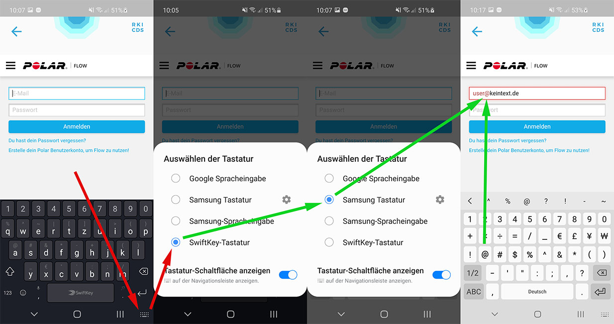 Corona-Datenspende App: Login-Problem