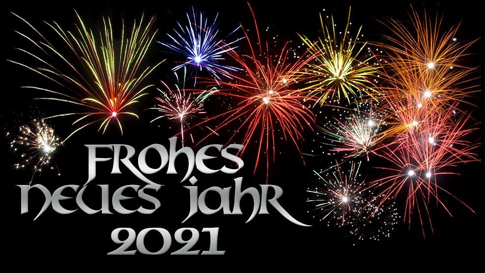 Frohes neues Jahr 2021 (silber)