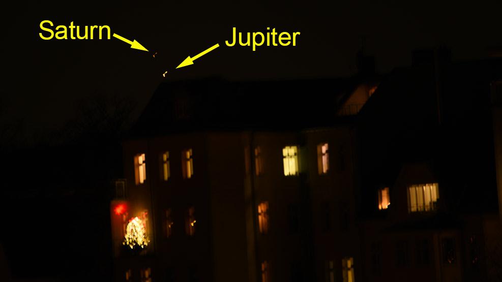 Konjunktion von Jupiter und Saturn